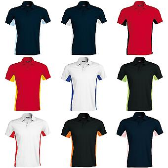 Kariban Mens Short Sleeve Flag Polo Shirt (Dual Colour)