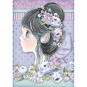 Stamperia Rice Paper Sheet A4-Lilac Fairy