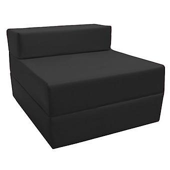 Confortável Fold Out Z Bed Chair em preto. Macio, confortável e leve com uma tampa resistente à água removida. Disponível em 10 Cores.