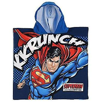 Superman boys poncho towel blue