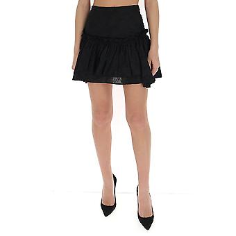 Wandering Wgs20305009 Women's Black Cotton Skirt