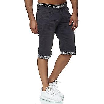 Men's denim shorts pants summer Bermuda Jaylvis elastic waistband casual