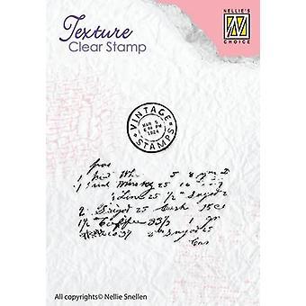 Nellie's Choice Clearstamp - textures writing TXCS008 51x47mm
