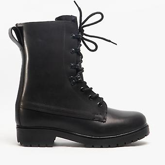 Grafters M9666a Unisex Leather Assault Boots Black