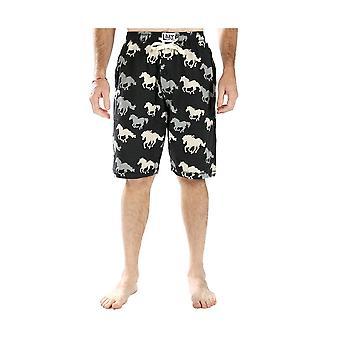 LazyOne Mens Stampede Horses PJ Shorts