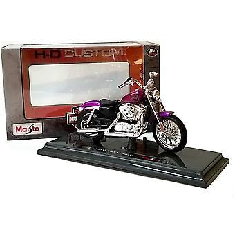 Maisto Harley Davidson 2013 XL 1200V seitsemänkymmentä kaksi violetti moottoripyörä 1:18
