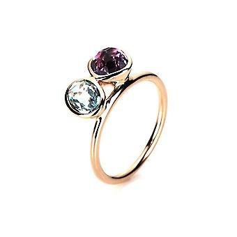 Gemstone Ring - Red Gold - 18K 750/- 2.01 ct.