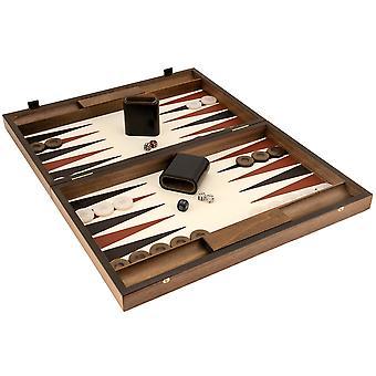 Manopoulos Luxury norsunluuta ja Walnut Backgammon asettaa