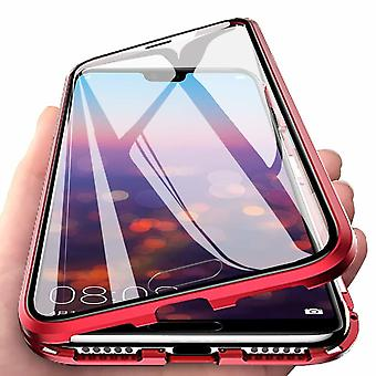 Carcasa magnética para Huawei P20 Pro con protección de pantalla - rojo