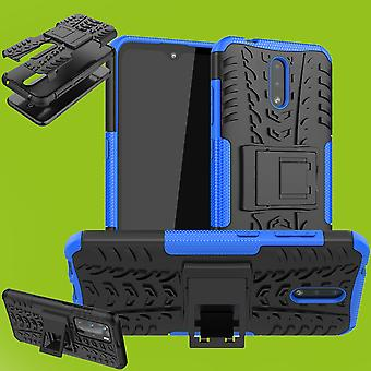 For Nokia 2.3 Hybrid Case 2-piece Outdoor Blue Case Sleeve Cover Protection