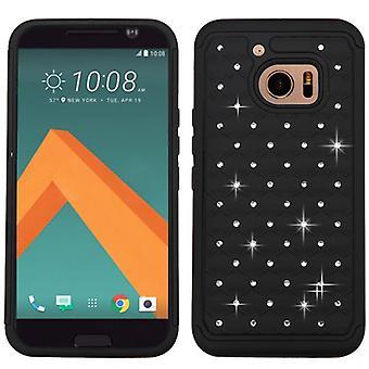 ASMYNA FullStar Protector Case for HTC 10 - Black/Black