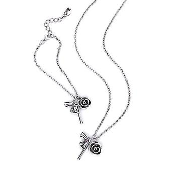 Guns N' Roses Twin Charm Necklace and Bracelet Set