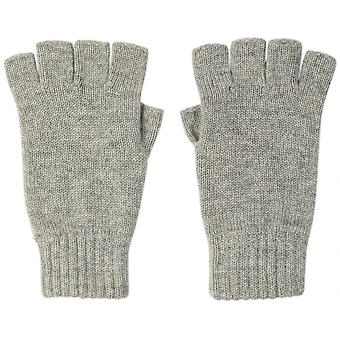 Johnstons of Elgin Cashmere Fingerless Gloves - Silver