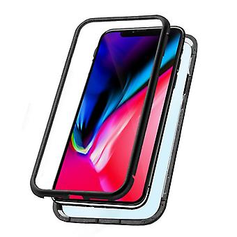 Mobile Abdeckung Iphone Xs Max KSIX Magnetic (2 Stück) Schwarz