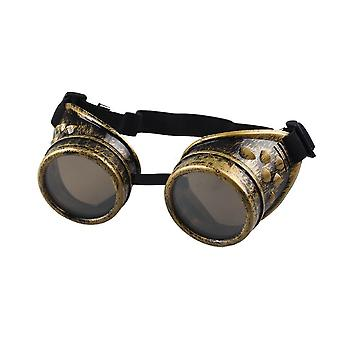 TRIXES einstellbare Steampunk Brille Party Kostüm Zubehör Metall Messing