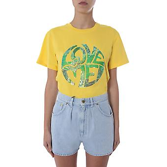 Alberta Ferretti 070316721027 Damen's gelbe Baumwolle T-shirt