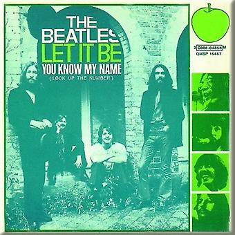 The Beatles Fridge Magnet Let It Be  You Know My Name new Official 76mm x 76mm
