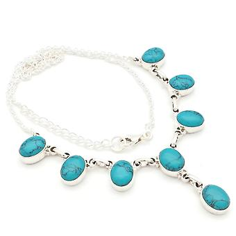 Turquoise Necklace 925 Silver Sterling Silver Necklace Necklace Blue Green (MCO 05-15)