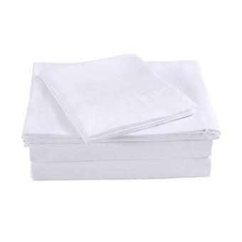Royal Comfort Bamboo Blended Sheet Federe Set King White