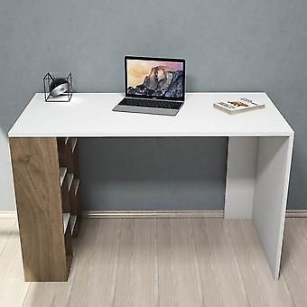 Inciscus Desk Color White, Valnød i melaminic chip, PVC 120x60x75cm