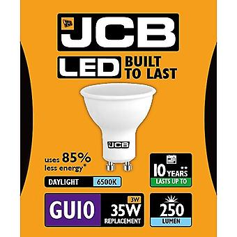 JCB LED GU10 3w Light Bulb Cap 250lm 6500k Daylight