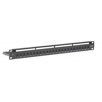 Cat 6 24 Port Patch Panel - Universal Termination (110/Katt)