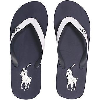 Polo Ralph Lauren Whitlebury II Classic Flip Flops, Navy/white