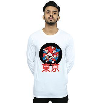 Disney Men's Mickey Mouse Team Huddle camiseta de manga larga