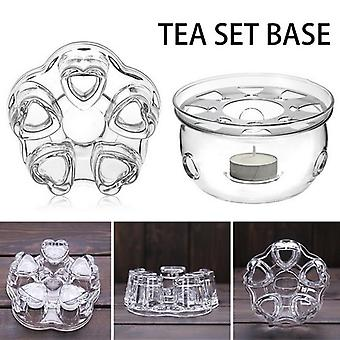 Mini Portable Clear Heat Resisting Teapot Holder - Base Coffee, Water, Tea