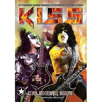 KISS Kalender 2021 Tributkalender DIN A3, Wandkalender 2021, 12 Monate, original englische Ausführung.