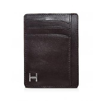 Hackett Leather Vertical H Card Holder