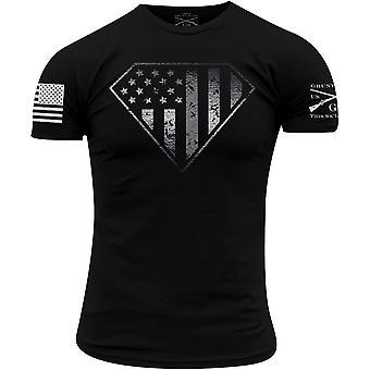 Grunt Style Silver Line Crest T-Shirt - Black
