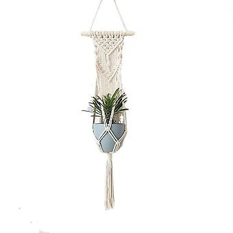 100% fatto a mano Macrame Fiore / pot Hanger per Wall Decoration Countyard Garden