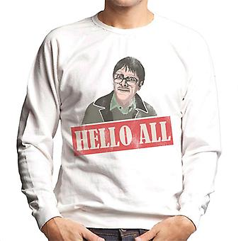 Friday Night Dinner Jim Hello All Men's Sweatshirt
