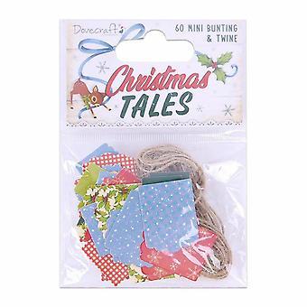Dovecraft Christmas Tales Mini Bunting & Bindfäden (60Stk.) (DCTOP158X19)