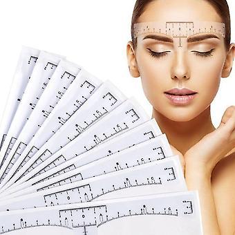 Ceja desechable regla grande para marca de medición - pegatina de maquillaje permanente