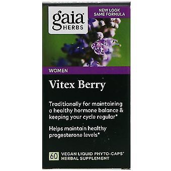 Gaia Kruiden, Vitex Berry, 60 Vegan Liquid Phyto-Caps