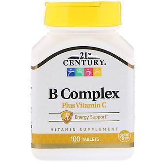 21st Century, B Complex Plus Vitamine C, 100 comprimés
