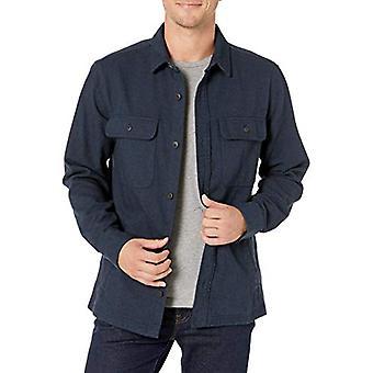 العلامة التجارية - Goodthreads الرجال & apos;ق الوزن الثقيل سترة قميص الفانيل, البحرية هيرى ...