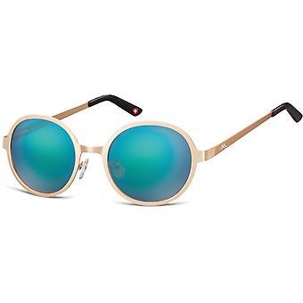 نظارات شمسية Unisex Cat.3 الذهب / الفيروز (MS87F)