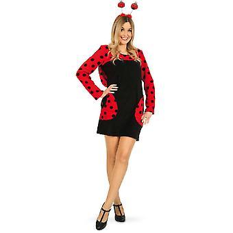 Mariehøne Kvinders Kostume Beetle Dress Animal Costume Beetle Dress Carnival Carnival Costume Ladies