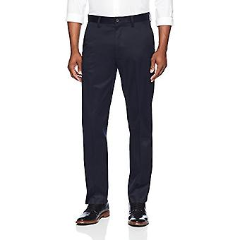 KNAPPET NED Men's Straight Fit Stretch Non-Iron Dress Chino Pant, Navy, 34W...