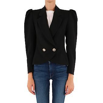 Alessandra Rich Fab2306f2333900 Mujeres's Blazer de lana negra