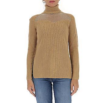 Elisabetta Franchi Mk60s06e2470 Women's Bege Wool Sweater