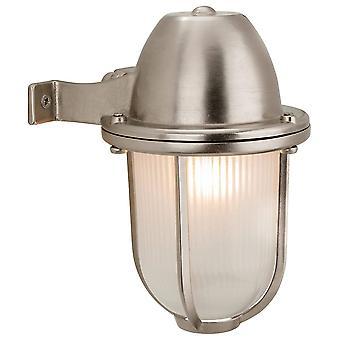 Firstlight Nautic - 1 lichte buitenmuur licht nikkel, matglas IP64, E27