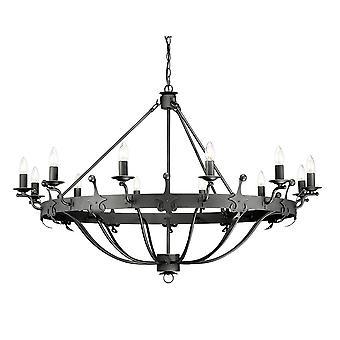 12 Light Pendant Chandelier - Graphite