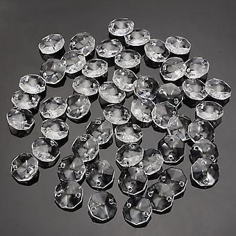 Glass Crystal Prisms, Clear Octagonal Beads Pendant Chandeliers