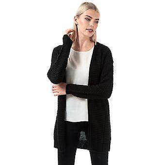 Frauen's Vero Moda Surfpurl Open Cardigan in schwarz