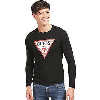 Guess Original Logo T-Shirt - Jet Black