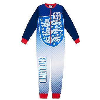 Engeland Jongens Pyjama All-In-One Sleepwear Kids OFFICIËLE Voetbal Cadeau